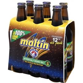 Polar Maltín Non-Alcoholic Malt Beverage Bottles, 12 Ounce